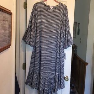LuLaRoe Maurine Dress 3X striped NWT
